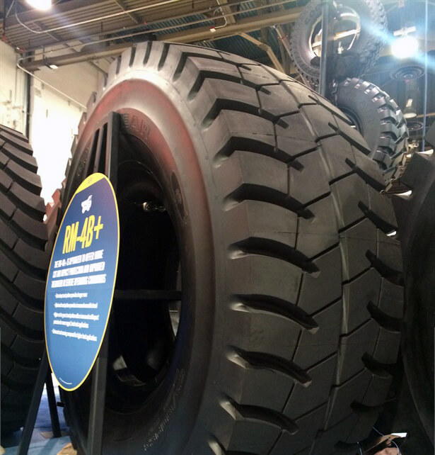 "New RM-4B+ - Goodyear unveils latest 63"" OTR tire"